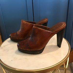 COLE HAAN DISTRESSED MULES